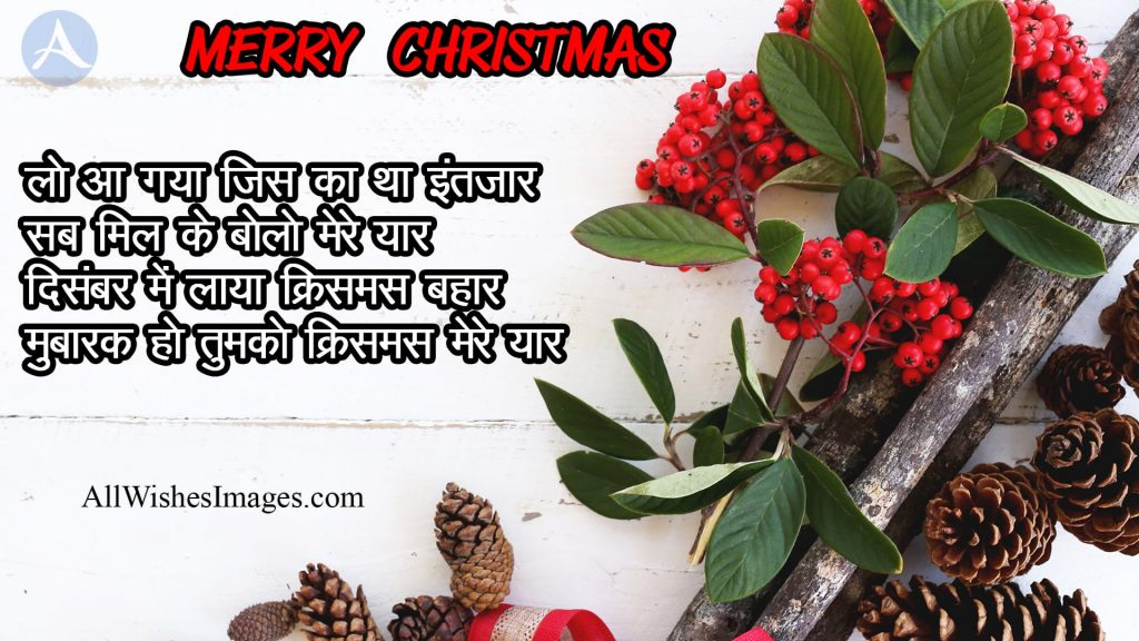 Merry Christmas Wish Shayari In Hindi
